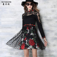 2017 New Brand Summer New Sexy Dress Women S Mesh Lace Sexy Tulle Bodycon Retro Voile