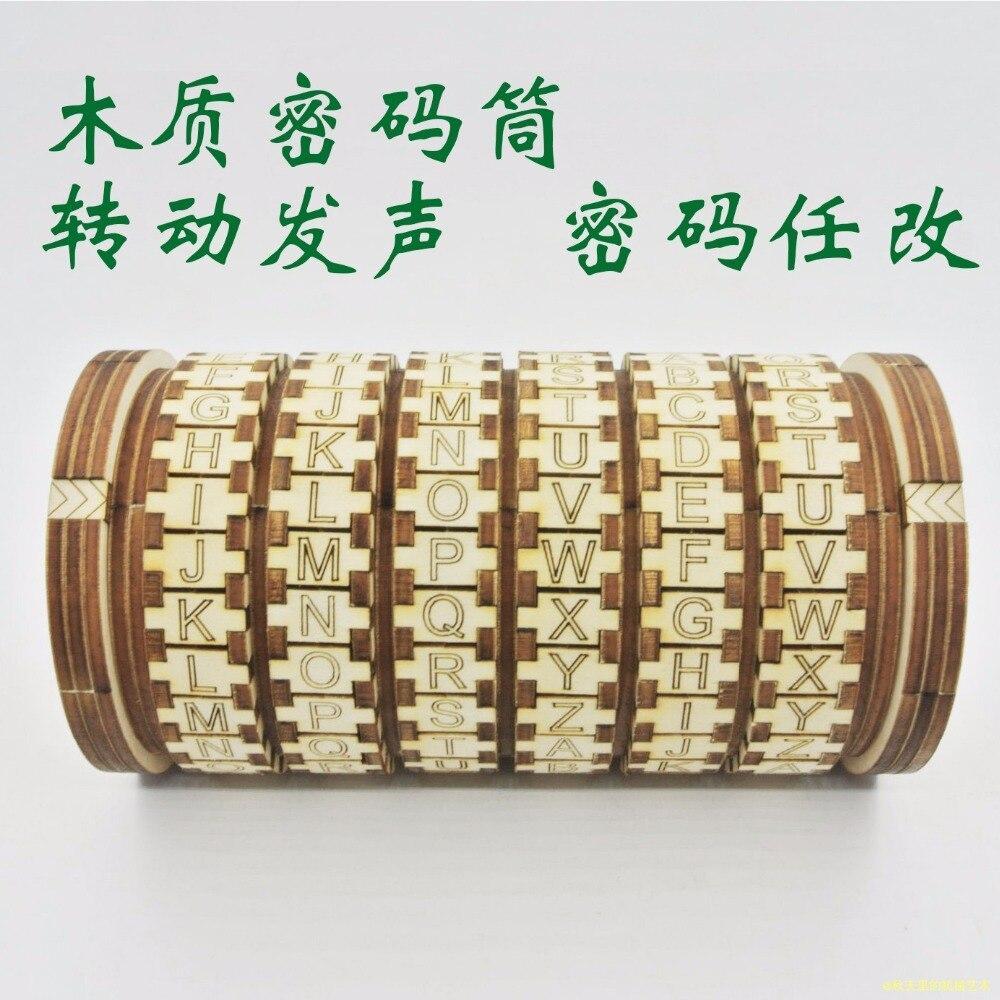 Da Vinci jouets magiques en bois Cryptex serrures idées cadeaux de mariage cadeau de saint valentin pour épouser les accessoires de chambre d'évasion amoureux