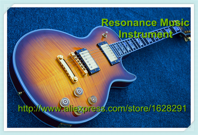 Nouvelle Arrivée Chinois Guitare Suprême Suneye LP Guitare Électrique Avec Golded Matériel et En Ébène En Stock