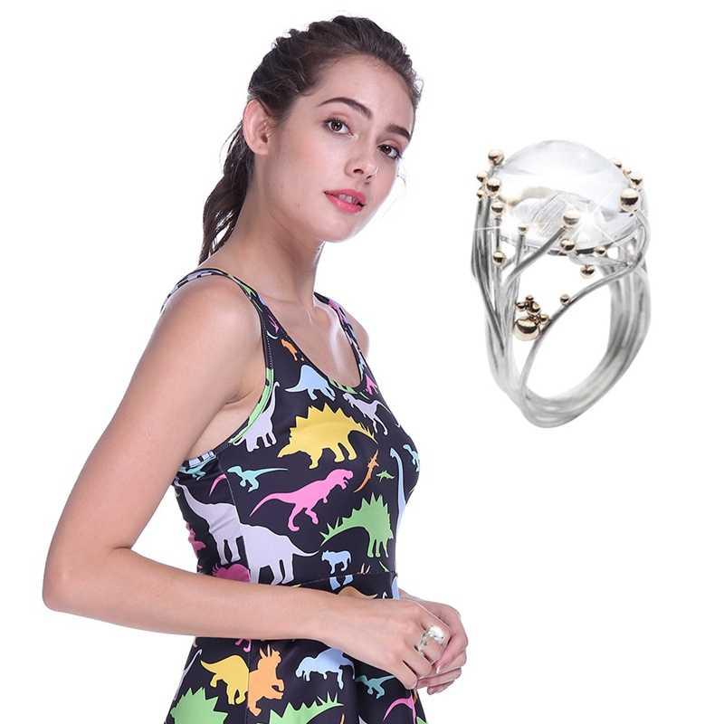 אופנה מתנה סיטונאי אבן טבעות האחרון אור טבעת טבעי נשים משובץ טבעי אבן טבעת