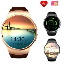 GSM SmartWatch Telefon BT Herzfrequenz KW18 Sport Smart Uhr Reloj Inteligente für Huawei Xiaomi Samsung IOS Android SmartPhone