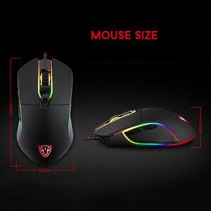 Image 5 - Motospeed V30 RGB תכנות 3500 DPI משחקי Gamer עכבר USB מחשב Wried אופטי עכברים הנשימה תאורה האחורית LED עבור מחשב משחק