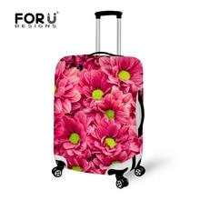 Forudesigns 3D цветок Чемодан Защитная крышка для 18-30 дюймов багажник случае тележка чемодан эластичные Футляр Чехлы для мангала с На Молнии