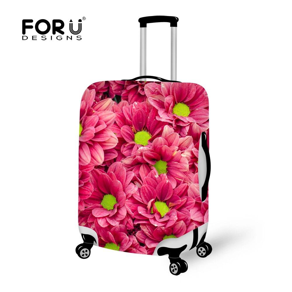 Forudesigns/3D цветок Чемодан Защитная крышка для 18-30 дюймов багажник случае тележка чемодан эластичные Футляр Чехлы для мангала с на Молнии