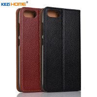 Case For ASUS Zenfone 4 Max ZC520KL Case KEZiHOME Litchi Genuine Leather Flip Stand Leather Cover