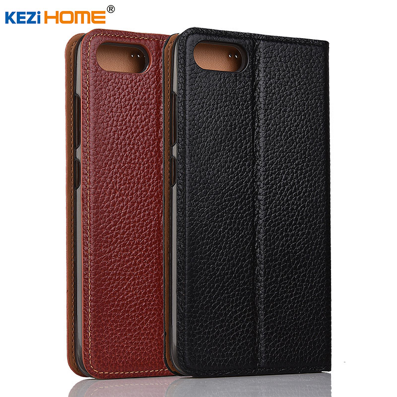 case for ASUS Zenfone 4 Max ZC520KL case KEZiHOME Litchi Genuine Leather Flip Stand Leather Cover For ASUS ZC520KL Phone cases