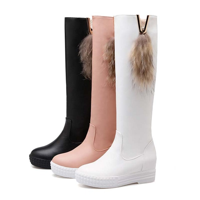 ENMAYER Size 39 New Arrival Round Toe Sexy Snow  Women Boots Black Flats Heels  Motorcycle Boots Autumn Winter Boots for Shoes