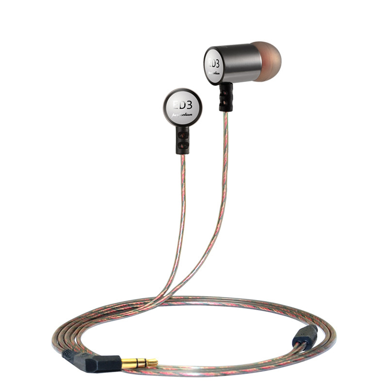 ED3 Wired Metal 3.5mm In-ear Earphone Sports Heavy Bass Earbuds HIFI Stereo Noise Isolating Headphone for Original KZ iphone MP3 raysun® metal diamond studded in ear noise isolating headphone earbuds earphone with remote