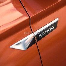 Для Skoda Karoq Kodiaq ABS автомобиля боковое крыло эмблема значок наклейки внешний автомобиль Стайлинг Аксессуары