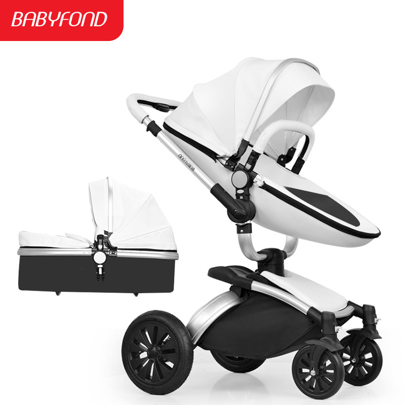 Aiqi Baby Carriage 360 Degree  Rotating baby stroller brand baby car doux bebe 2 in 1 baby stroller 3 in 1 leather carriage