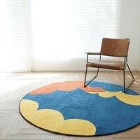 Скандинавском стиле Симпатичные облака гостиная ковер, мягкие круглые детская игровая площадка, украшения прикроватный коврик