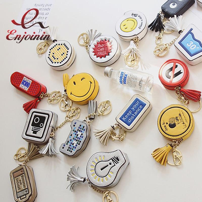 Divertido personalizado moda padrão borlas boa qualidade dos desenhos animados mini bolsa de moedas do plutônio das mulheres zíper bolsa bolsas acessórios carteiras