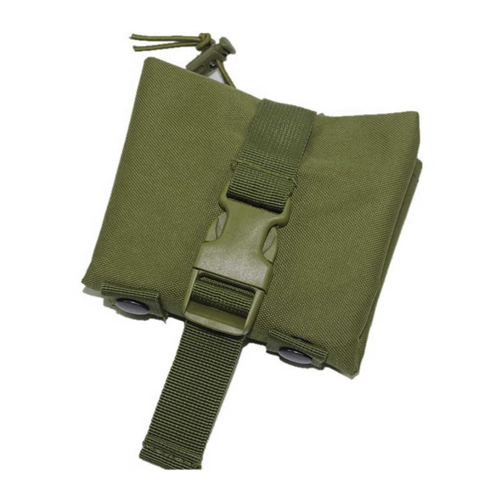 Cinto Molle Revista Mag Gota Bolsa de Despejo Utilitário tático Caça Airsoft Arma Militar Ammo Saco Foldable