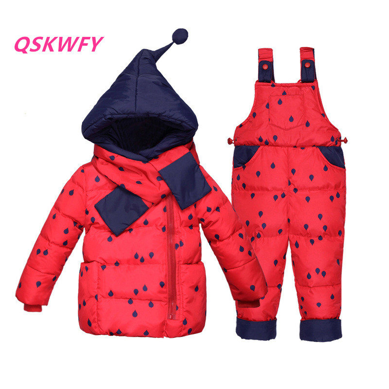 1df5a88e0 New winter childrens down jacket suite 2 pcs thickened baby ski ...