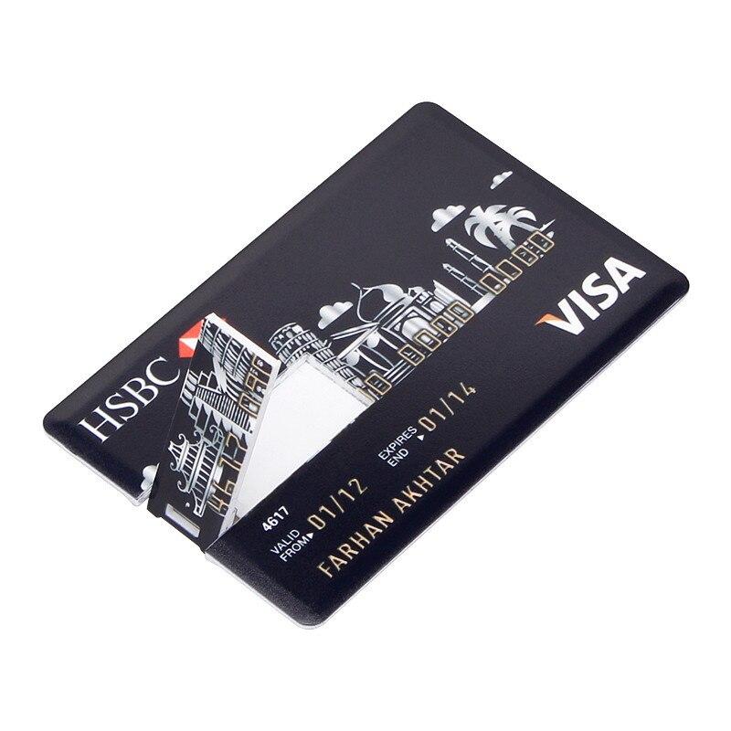 Image 2 - New Super Slim Credit Card usb flash drive 2.0 key usb stick 32GB pen newest drive 8GB 16GB 64GB pendrive 128GB Free custom LOGO-in USB Flash Drives from Computer & Office
