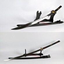 HIGH QUALITY JAPANESE SAMURAI SWORD NAGINATA Nagamaki CLAY TEMPERED BLADE VERY SHARP