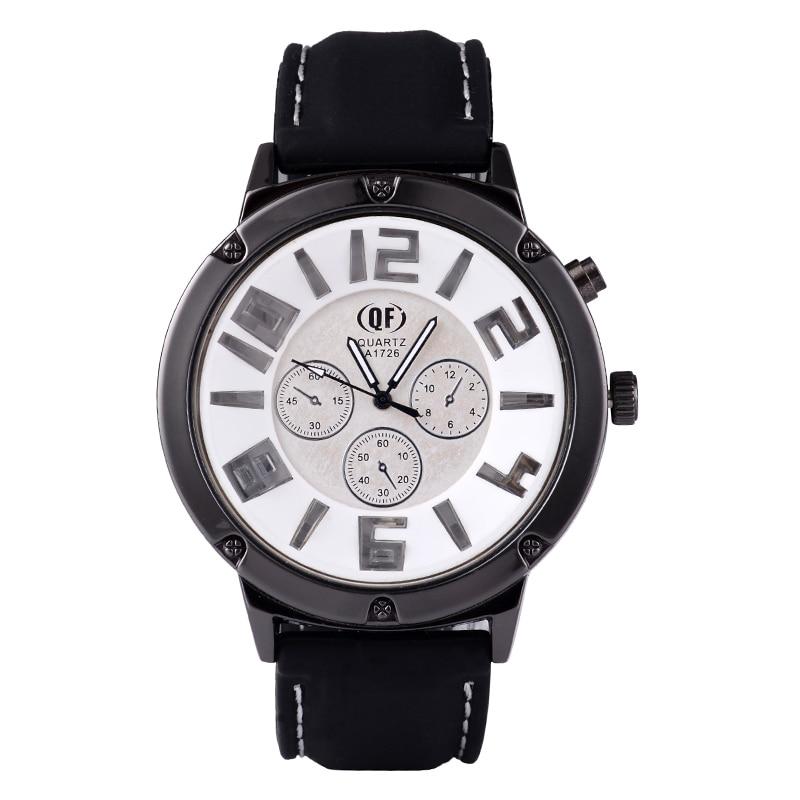 Stylish Trend Men's Fashion Big Alloy Dial Luminous Function Casual Silicone Band Student Hip Hop Soprts Quartz Watch (WJ-4990)