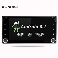2din GPS Android 8.1 Car Multimedia Player For Toyota Land Cruiser 100 200 Prado 120 150 Rush Corolla Hiace Yaris HiluxCar Radio