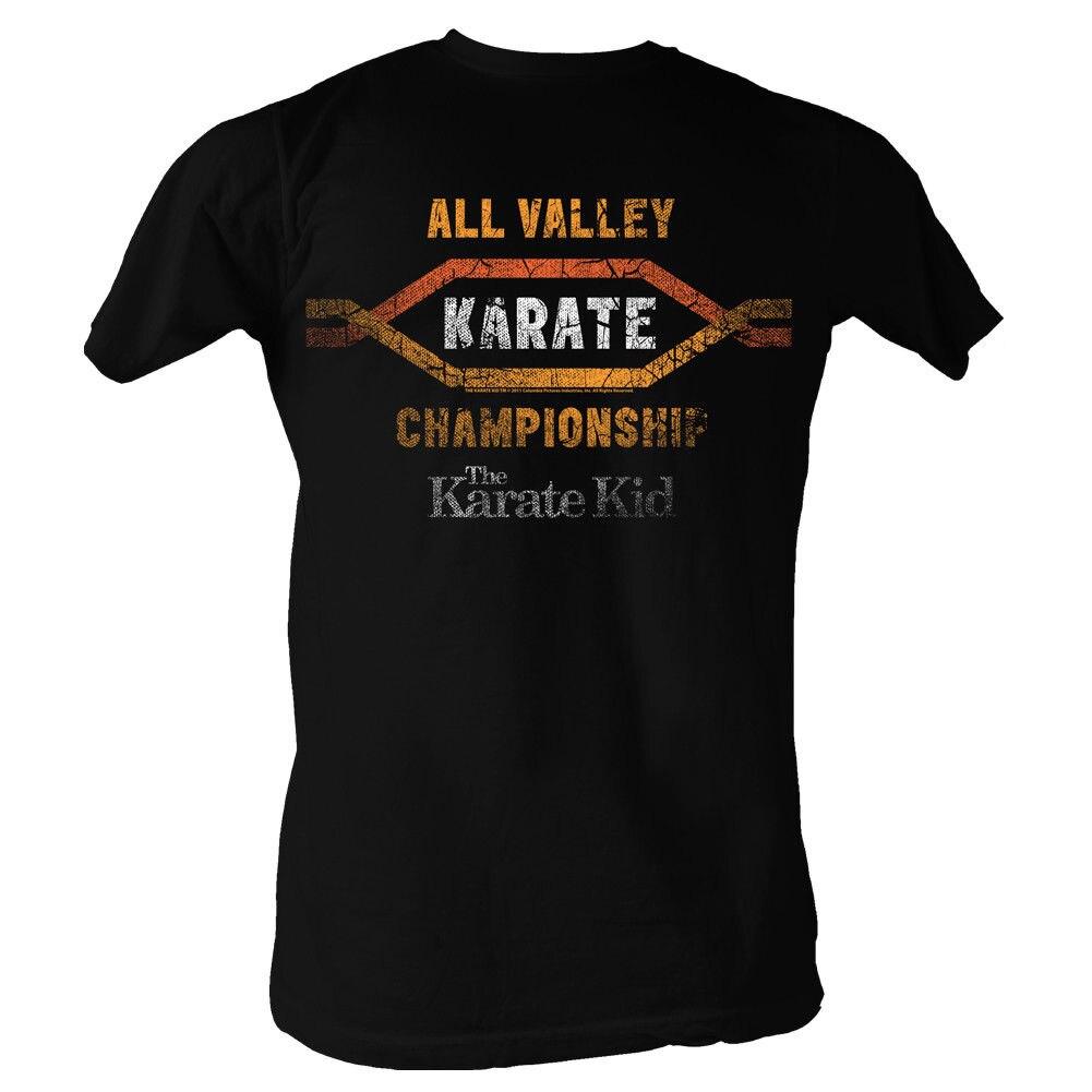 Каратэ-Пацан долины черный Для мужчин взрослых короткий рукав Футболка Для мужчин s рубашки короткий рукав тенденция Костюмы простой Стиль