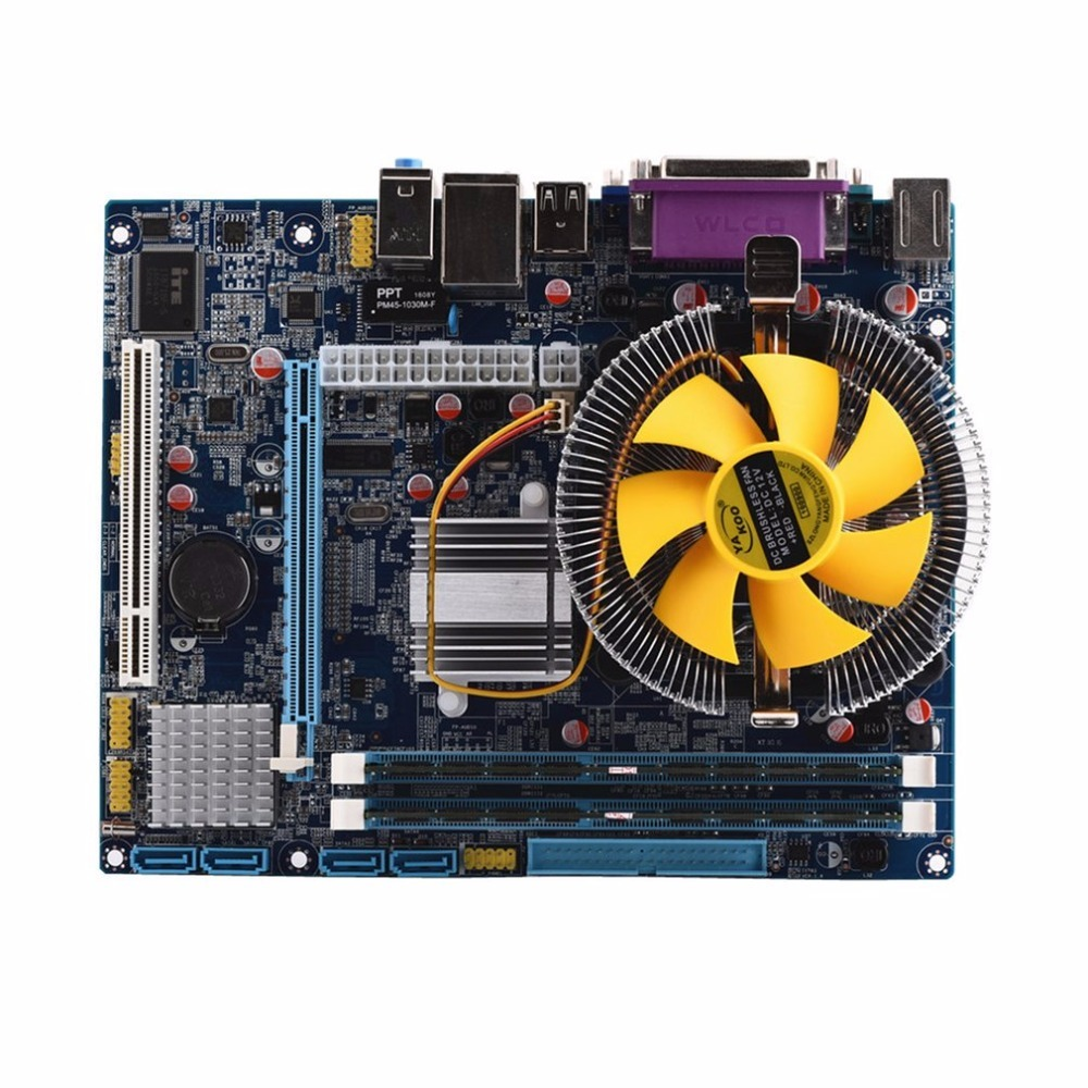 Carte mère CPU ensemble avec Quad Core 2.66G CPU Core + 4G mémoire + ventilateur ATX ordinateur de bureau carte mère assembler ensemble de haute qualité