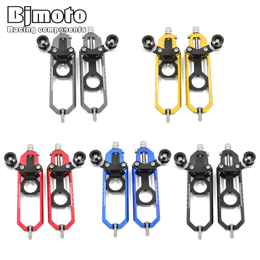 Bjmoto For BMW S1000RR 2009-2015 S1000R 2014-2015 HP4 2012-2014 motorcycle CNC Chain Adjusters Regulator Tensioners Catena Spool cnc aluminum rear chain guard cover protector for bmw s1000r 2014 2015 s1000rr 2010 2016 hp4 2012 2014