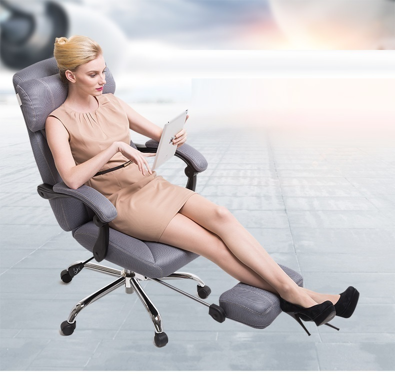 boss leisure chair lying stool office recliner computer workshop villa nap chair free shipping 240337 ergonomic chair quality pu wheel household office chair computer chair 3d thick cushion high breathable mesh