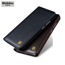 Wobiloo Case for ZTE Nubia Z11 5.5″ Business Flip Phone Case Cover Cowhide Genuine Leather Accessories Bag Cases for Nubia Z11