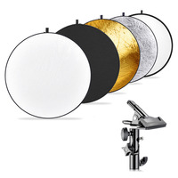 Neewer Photography 5 in 1 Multi Disc Light Reflector (43 inches/110 centimeters) with Heavy duty Metal Clamp Holder