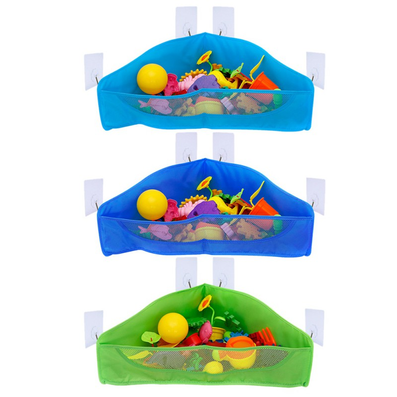 Hanging Bath Toy Storage Bags Bathtub Toys Net Holder Organizer for Kids and Toddlers Bathroom Storage Bags For Children