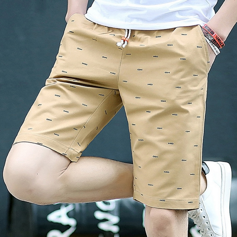 Laamei Printing Casual   Shorts   Men Drawstring Breathable Straight Men   Short   pants Hot Comfortable Mens   Short   Homme Boardshorts