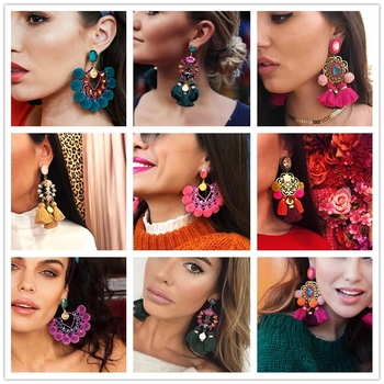 2019 hot Luxury long Pendant Tassel Statement Earrings Boho Shiny Drop Dangle Earrings For Women wedding.jpg 350x350 - Luxury Pendant Tassel Statement Earrings