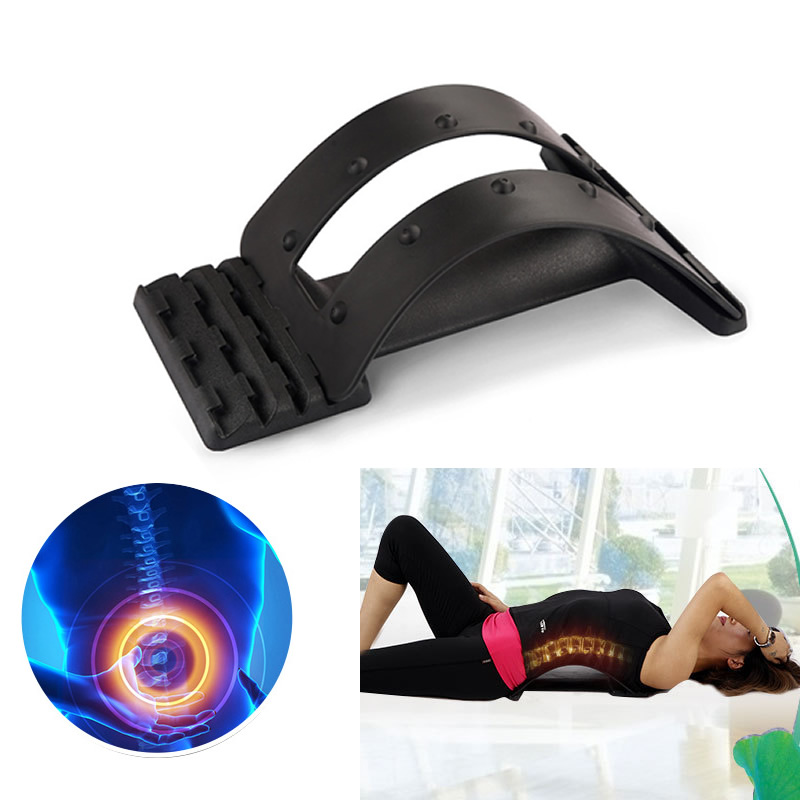 Back Support Stretcher Lower Lumbar Massage Spine Pain Relief Chiropractic корсет spine support