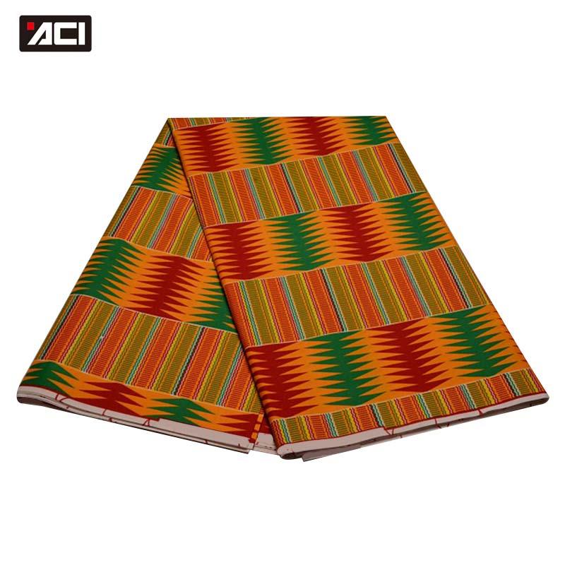 ACI African Wax Hollandais Kente Fabric Veritable Wax Hollandais Ghana Kente Cloth Ankara Fabric Real Wax 6 Yards For Lady DressACI African Wax Hollandais Kente Fabric Veritable Wax Hollandais Ghana Kente Cloth Ankara Fabric Real Wax 6 Yards For Lady Dress