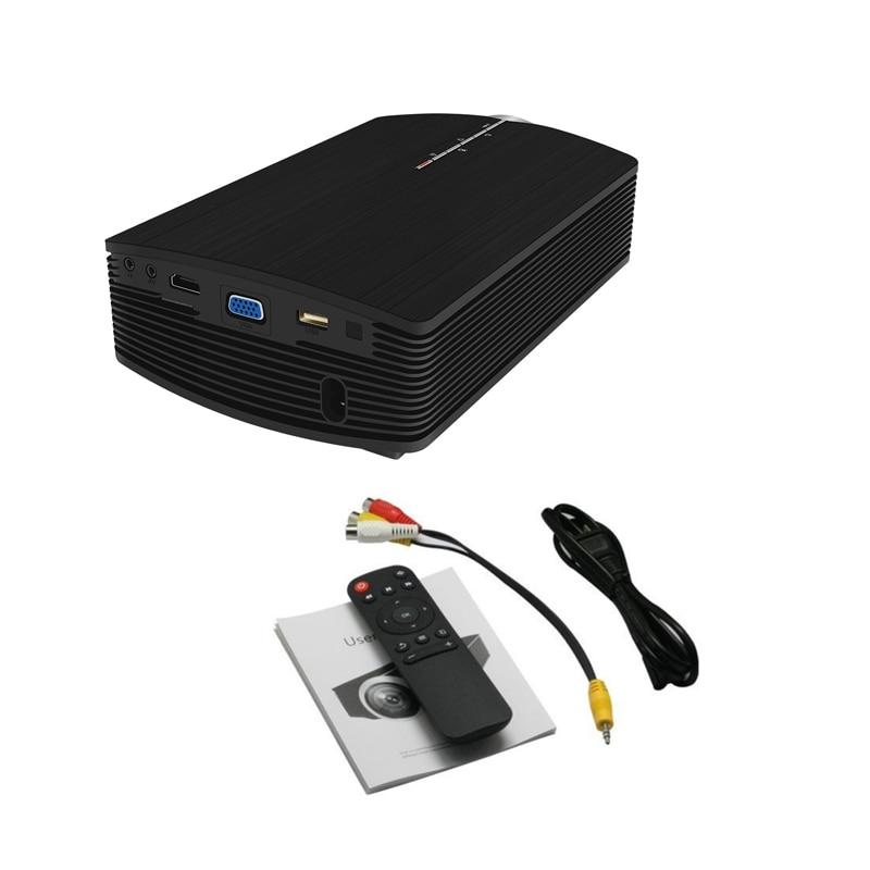 YG500 Mini projecteur 1080 P home cinéma 5.1 Portable 1800 Lumen projecteur LED Home cinéma USB HDMI 3D Beamer basse haut-parleur Projec - 6