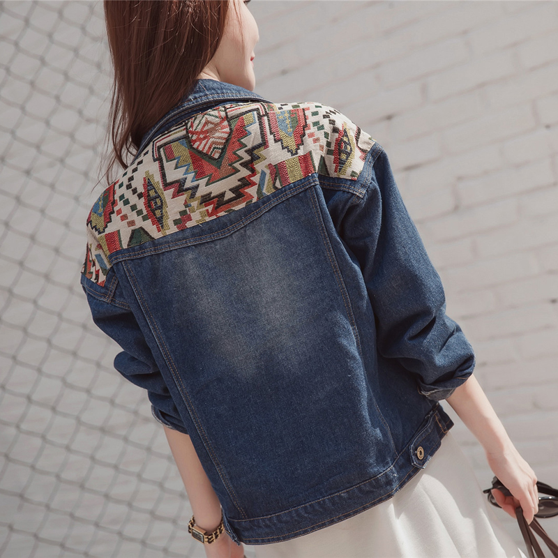 276f539dd Women's large size Basic Coat denim jacket women's fat mm autumn new Korean  loose wild denim jacket jacket Bomber female -in Basic Jackets from Women's  ...