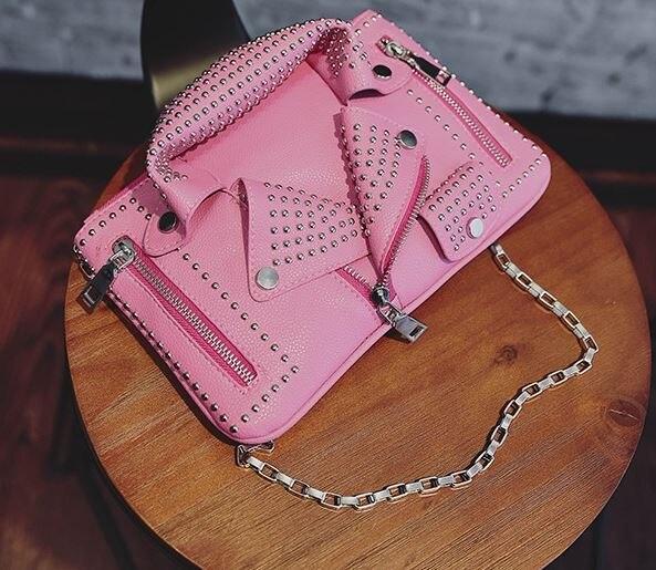 Del Sacchetti A Pelle Donne Di Black Bag Materiali Messenger pink Caldo Motociclo Giacca Borse Marca Tracolla Abbigliamento Spalla Pu Progettista Delle In nqBXz0gS