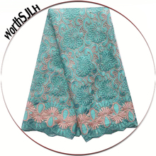 Guipure African Lace Fabric 2019 High Quality Aqua Baby Pink Latest Nigerian Lace Fabric Swiss Embroidered Tulle Lace Fabric геннадий авласенко о том как зверята правила безопасного поведения изучали
