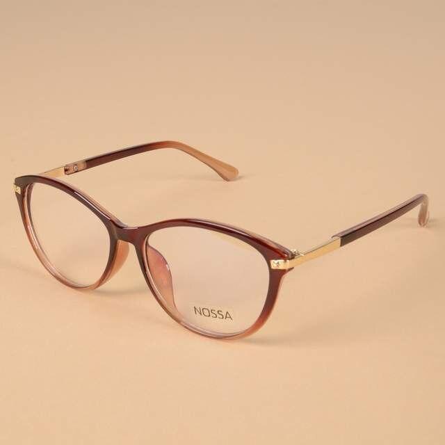 60f14621e81 Online Shop Clear Fashion Glasses Cat Eye Optical Eyeglasses Frame Men Women  Trendy Cateye Cool Eyewear Casual Prescription Spectacle Frames