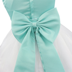 Image 4 - Flower Girls Dress Flower Petals Tulle Bow Sleeveless Formal Dresses for Wedding Pageant Birthday Party Formal Special Occasions