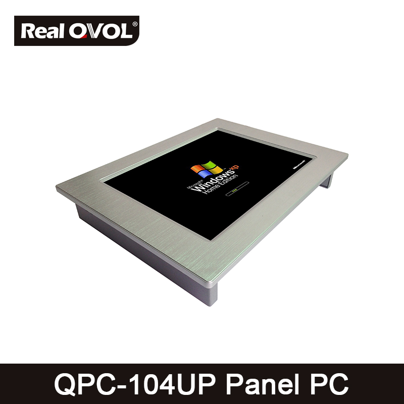 QPC-104UP Panel touch PC industrial computer fanless Intel 1037U 1.8GHz CPU, 32GB SSD with VGA HDMI port & 4 Serial Port,2 LAN 8g ram 256g ssd 1t hdd fanless intel celeron 1037u industrial embedded computer dual lan 4 com rs232 usb 3 0 hdmi vga win 10