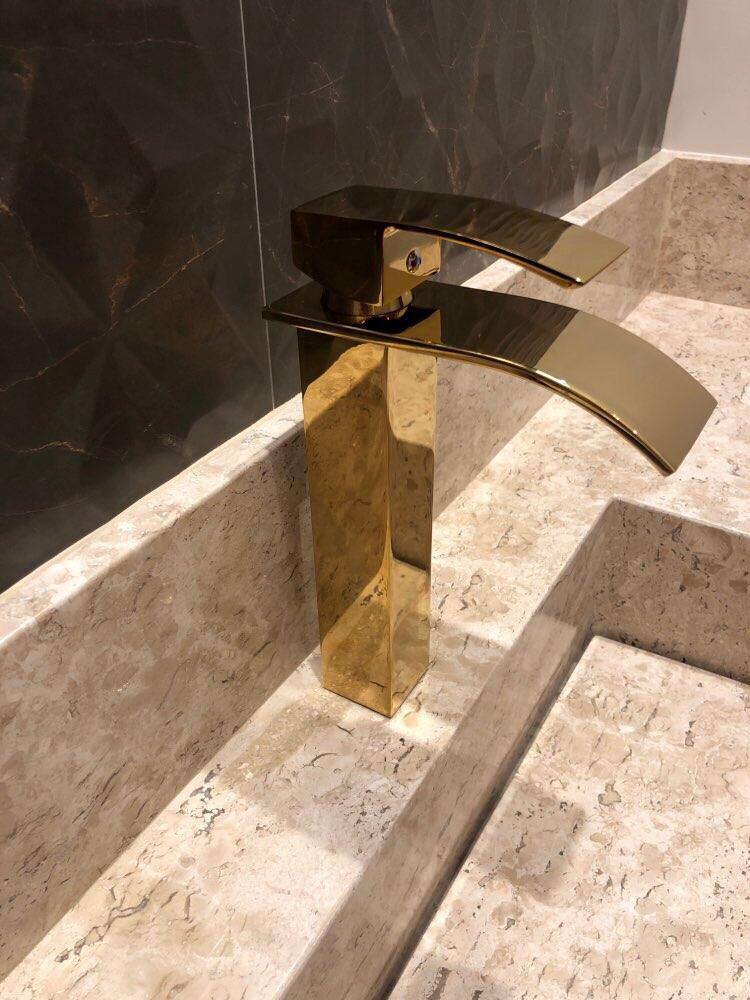 Gran venta cubierta de buena calidad montada con una sola manija de baño de oro lavabo caliente y frío grifo de lavabo Y111-in Grifos de lavabo from Mejoras para el hogar on AliExpress - 11.11_Double 11_Singles' Day 1