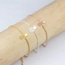Boho Jewelry 2018 Bransoletki Damsk Stainless Steel Silver Chain Ananas Bracelets & Bangles Rose Gold Pineapple Charms Bracelet
