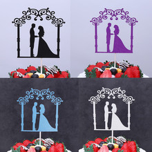 Glitter Cake Topper Bride Groom Cupcake Toppers Wedding Insert Flags For Kids Birthday Party Decor 9style