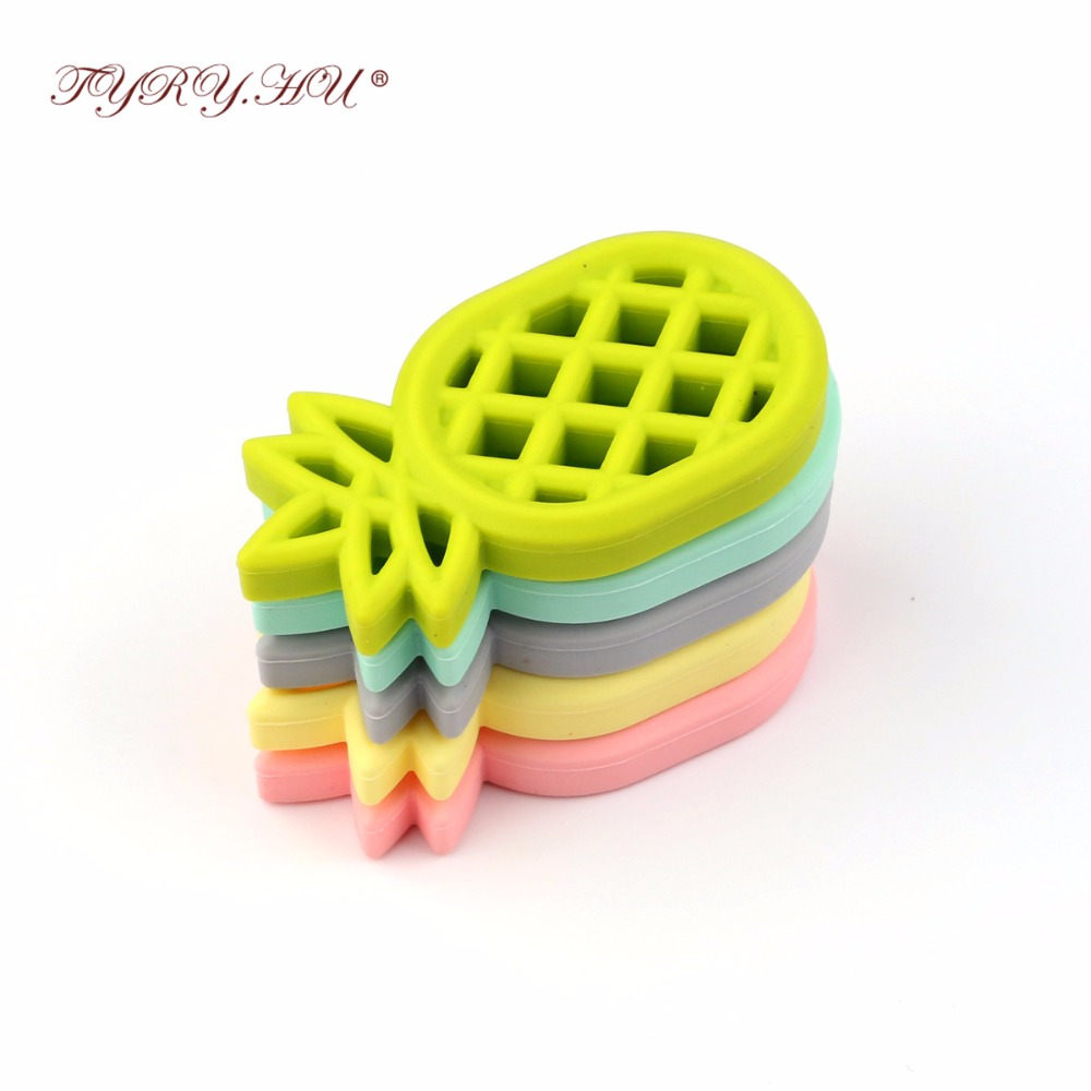 TYRY.HU Flexible Silicone Teether Pineapple Shape Baby Teething Toys Soothe Sore Gums Baby Teether mordedor silicona