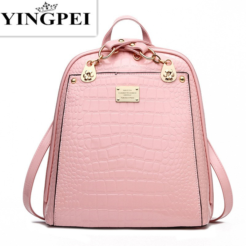 Leather Bagpack Women or Men font b Laptop b font Travel Fashion School Bags for Teenagers