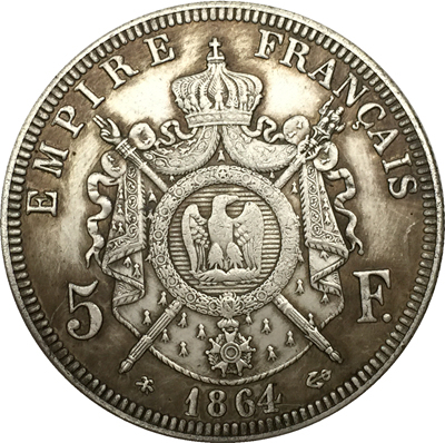 France 5 Francs Napoleon Iii 1864 Coins Copy In Non Currency Coins