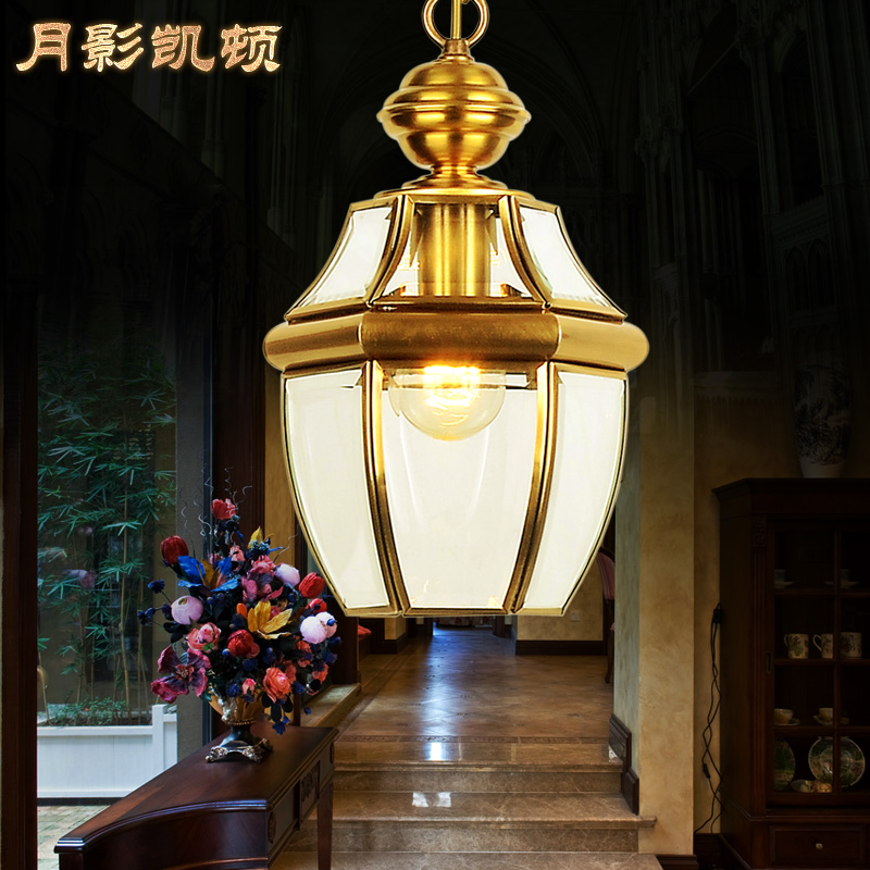 All American small copper fixtures chandeliers balcony Aisle Lamp corridor Light garden lights glass lamps