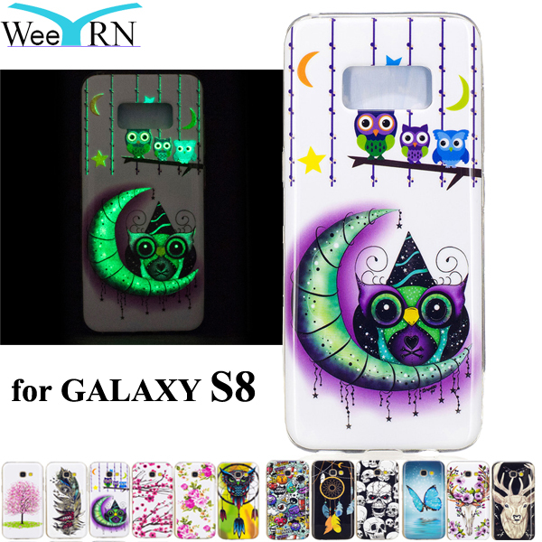 SM-G950F Case Owl Luminous in Dark Glowing TPU Soft Cover for Samsung Galaxy S8 Phone Case Silicon Funda Capa for GALAXY S8