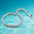 Мужская мода серебряная цепь 925 bracelet мужской браслет. Прилив мужской любовь мода аксессуары