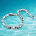Men's fashion 925 sterling silver chain bracelet new men's bracelet. Tide male love fashion accessories